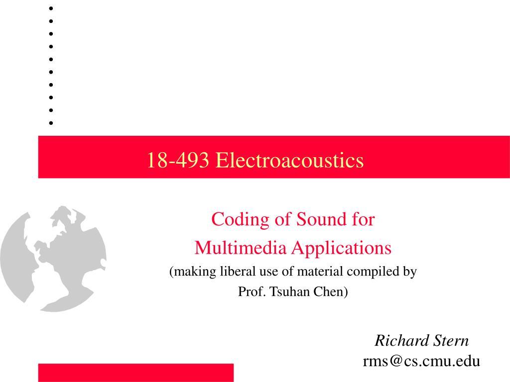 18 493 electroacoustics l.