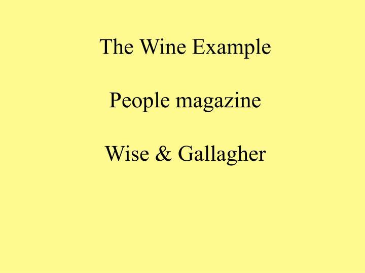 The Wine Example