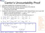 cantor s uncountability proof