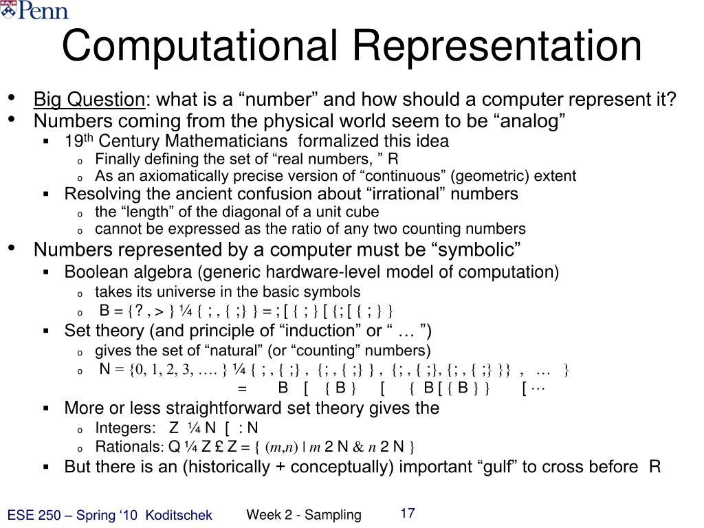 Computational Representation