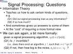 signal processing questions
