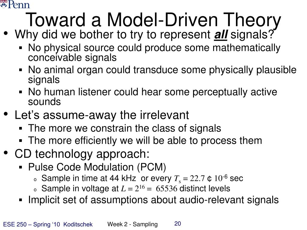 Toward a Model-Driven Theory