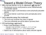 toward a model driven theory