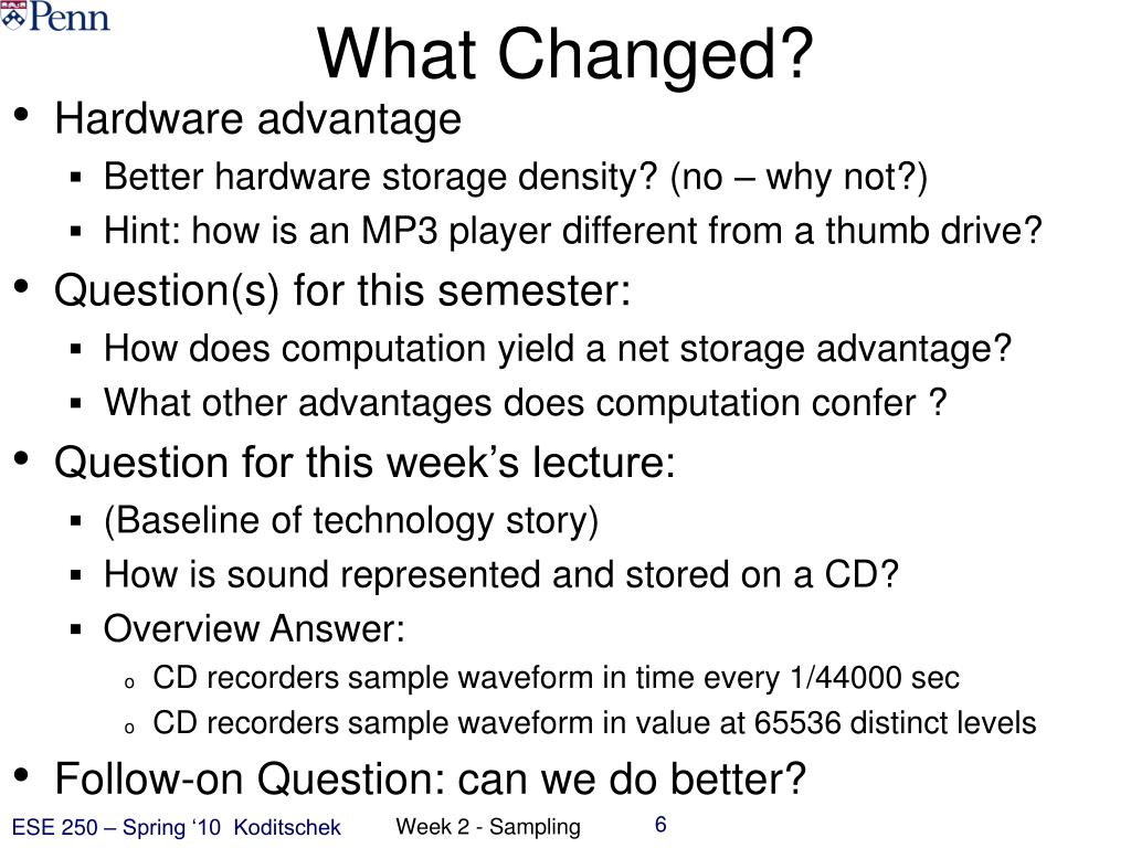 What Changed?