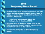 ifta temporary decal permit