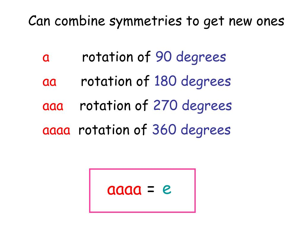Can combine symmetries to get new ones