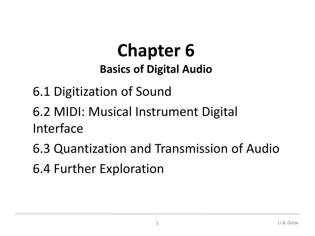 chapter 6 basics of digital audio l.