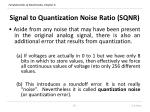 signal to quantization noise ratio sqnr