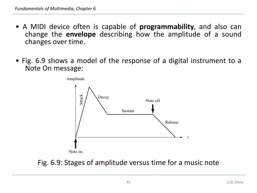 • A MIDI device often is capable of