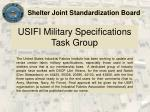 usifi military specifications task group