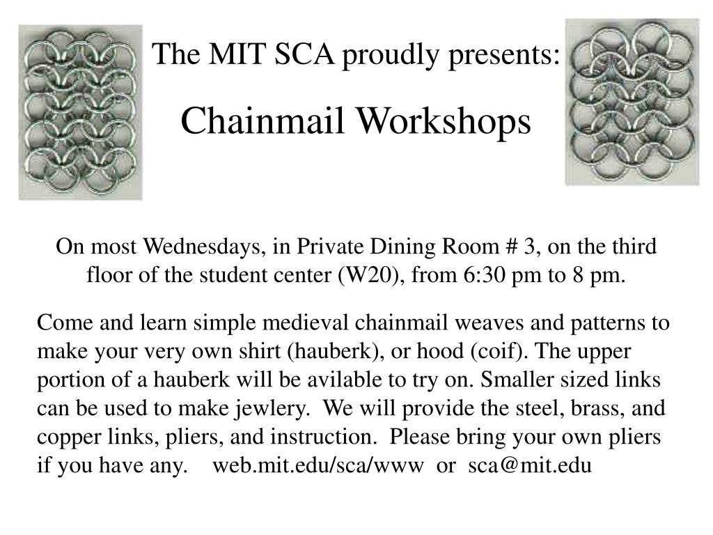 The MIT SCA proudly presents: