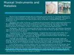 musical instruments and melodies