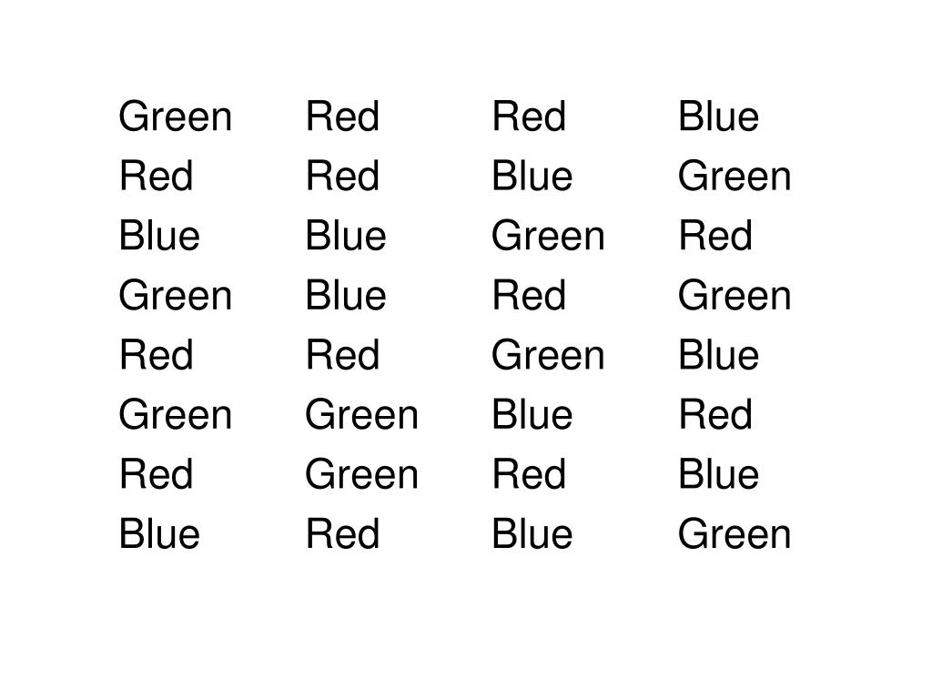 GreenRedRedBlue