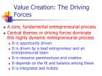 value creation the driving forces