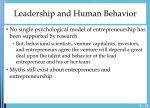 leadership and human behavior