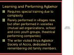 learning and performing agbekor
