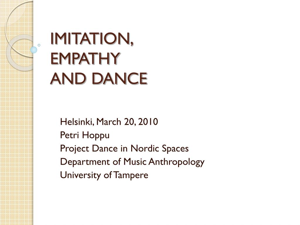 imitation empathy and dance l.
