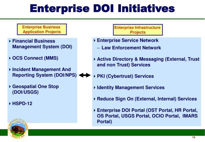 Enterprise DOI Initiatives