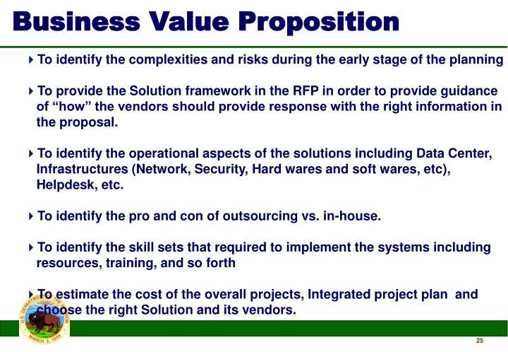 Business Value Proposition