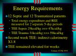 energy requirements2