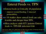 enteral feeds vs tpn