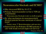 neuromuscular blockade and ecmo