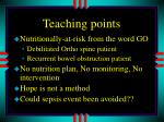 teaching points