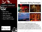 romantic dining packages