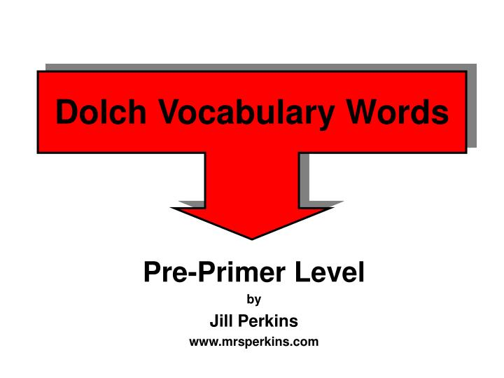 dolch vocabulary words n.