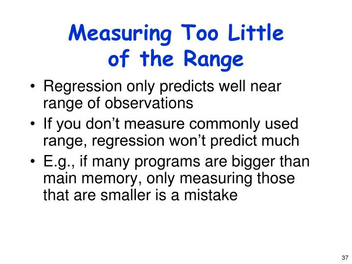 Measuring Too Little