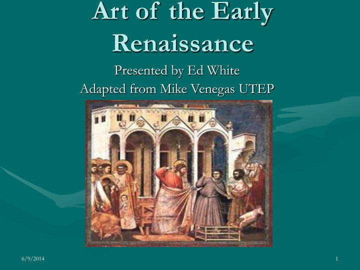 art of the early renaissance n.