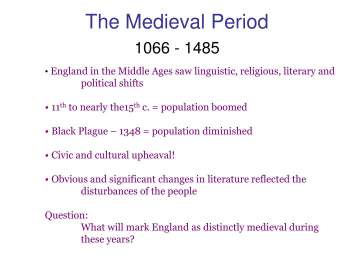 the medieval period in england