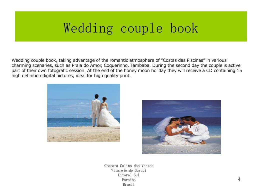 Wedding couple book