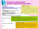 designing wedding outfits writing wedding outfit description