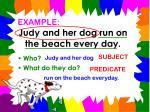 judy and her dog run on the beach every day