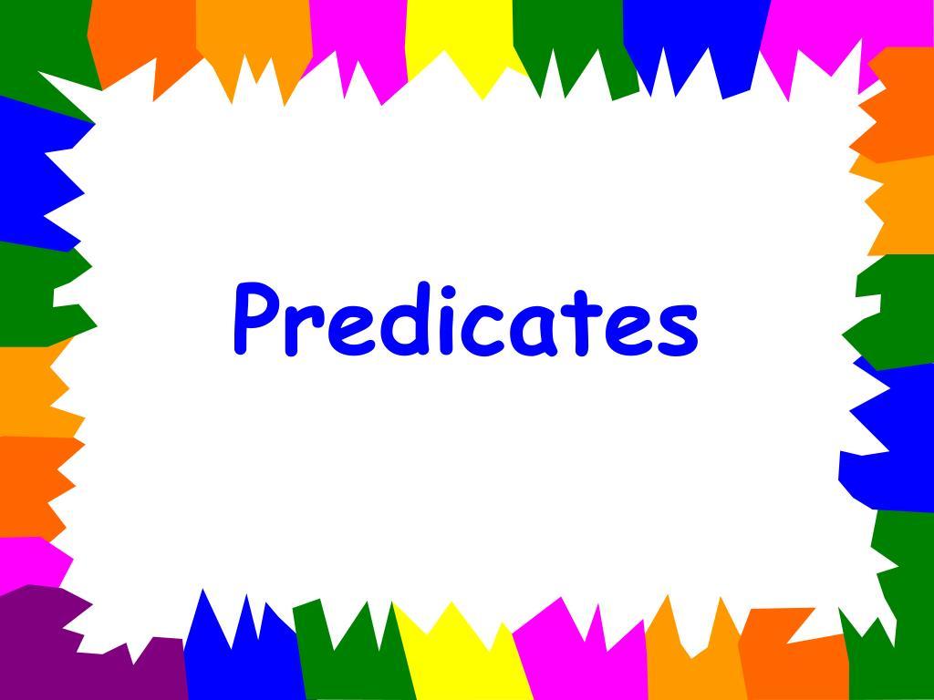 predicates l.
