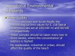 operational environmental standards