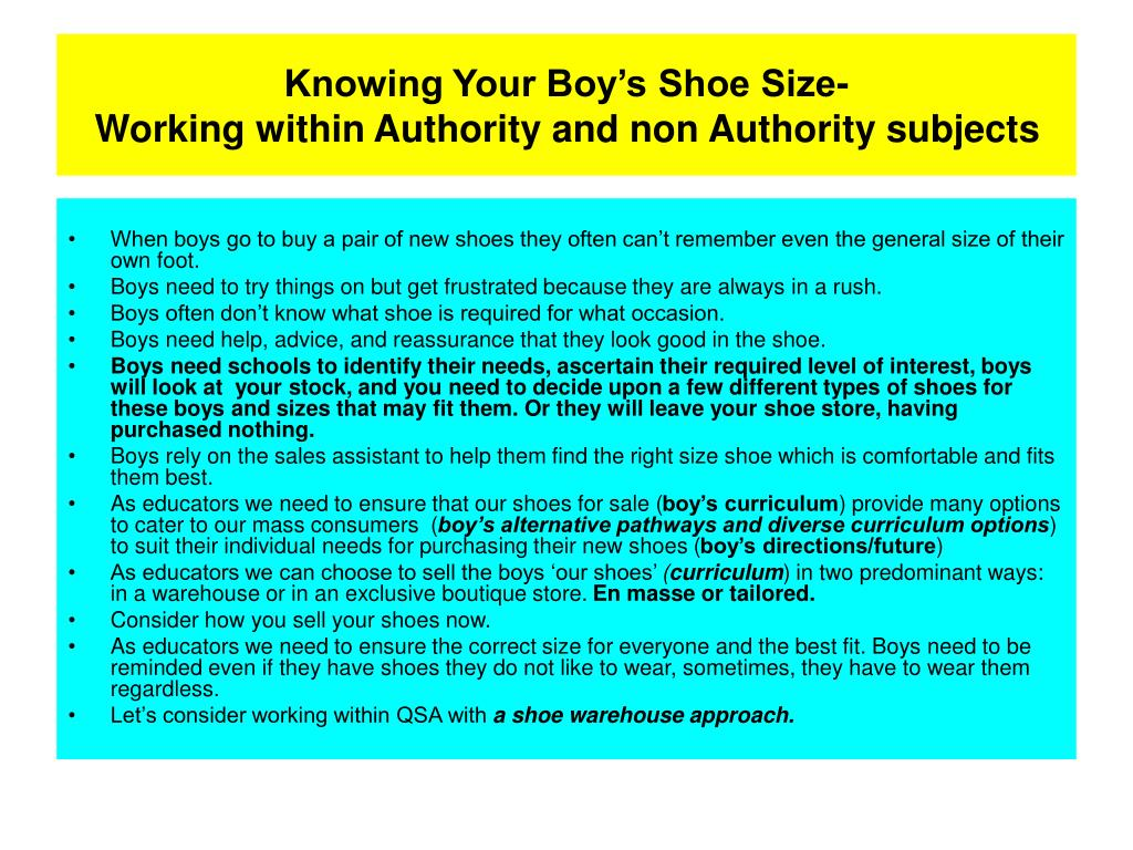 Knowing Your Boy's Shoe Size-