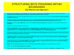 structuring boys programs within boundaries my warehouse approach