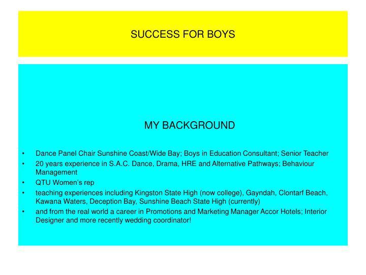 Success for boys