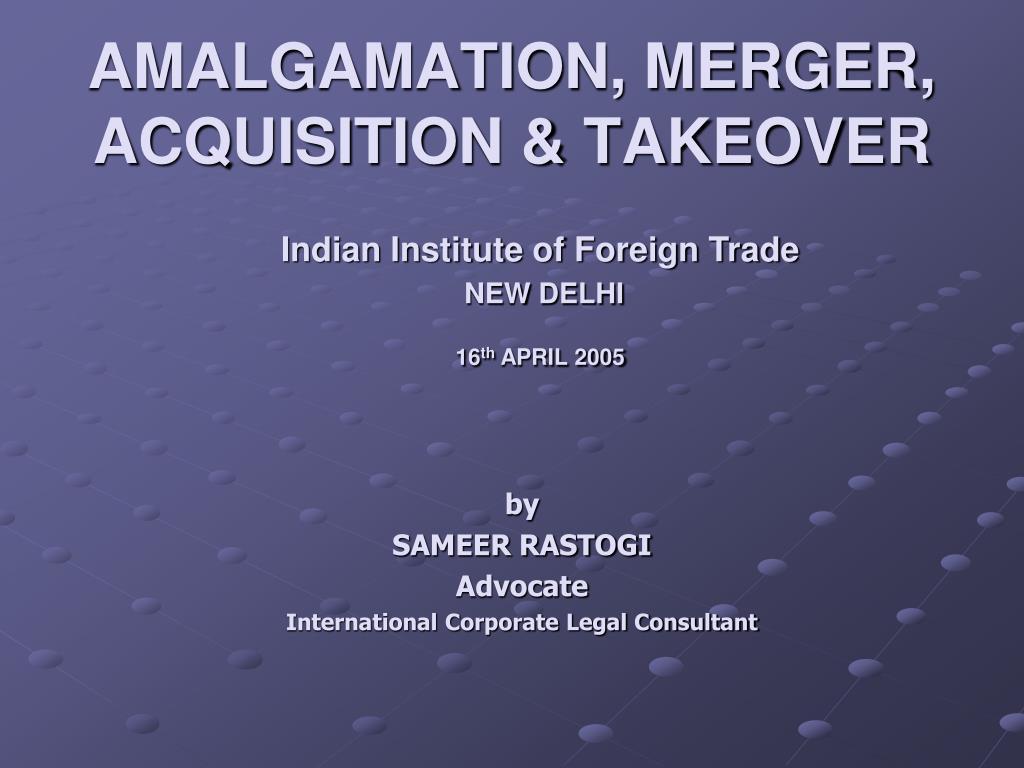 amalgamation merger acquisition takeover l.