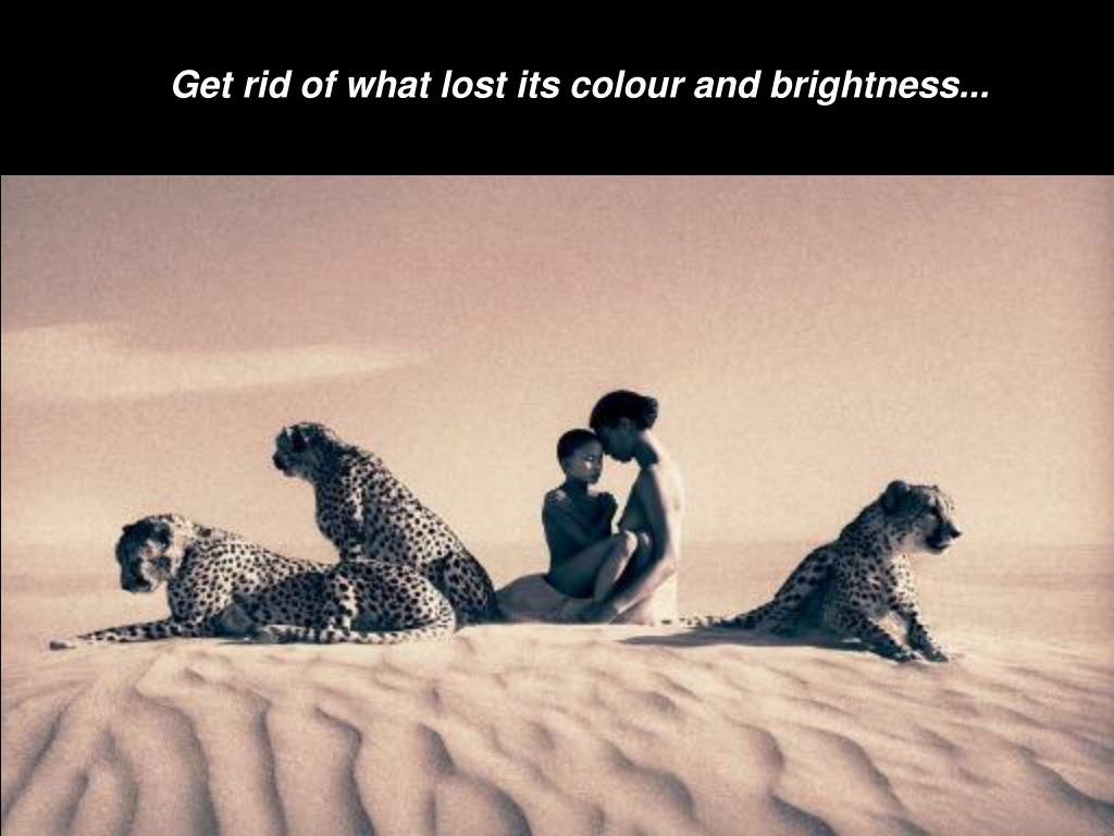 Get rid of what lost its colour and brightness...