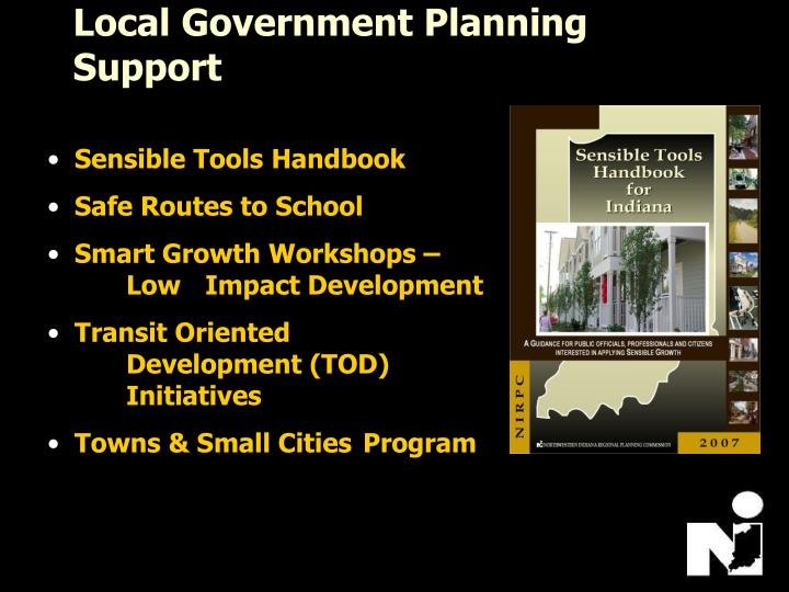 Local Government Planning Support