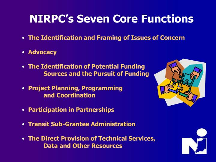 NIRPC's Seven Core Functions