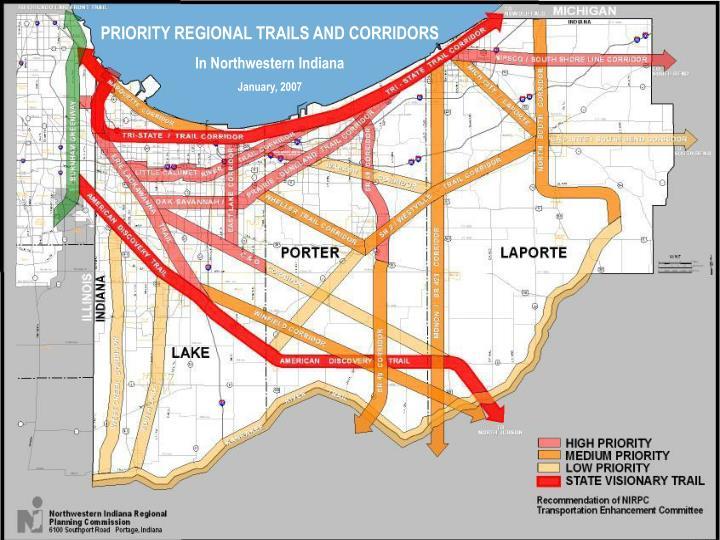 PRIORITY REGIONAL TRAILS AND CORRIDORS