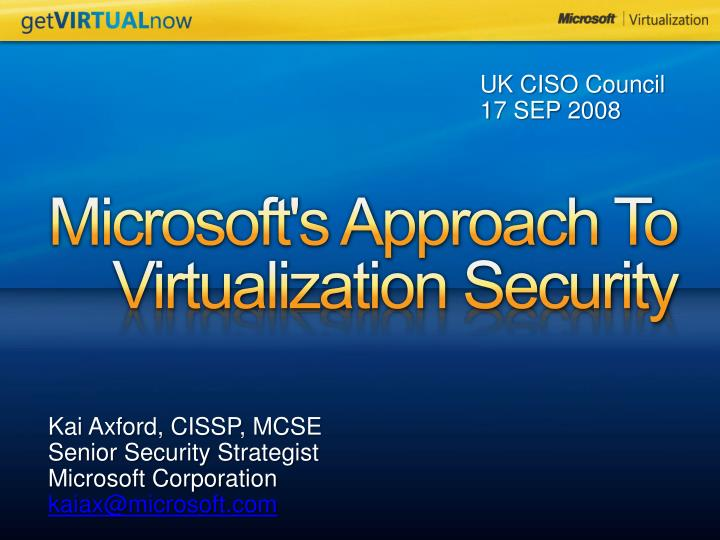 microsoft s approach to virtualization security n.