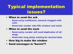 typical implementation issues