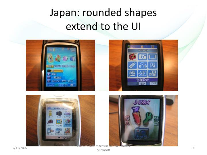 Japan: rounded shapes