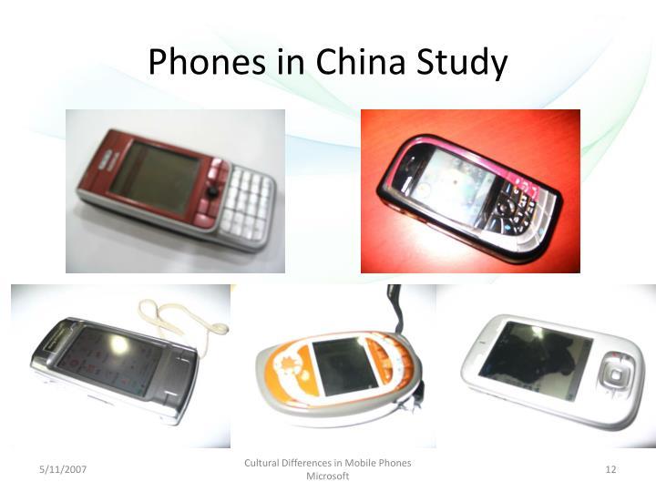 Phones in China Study