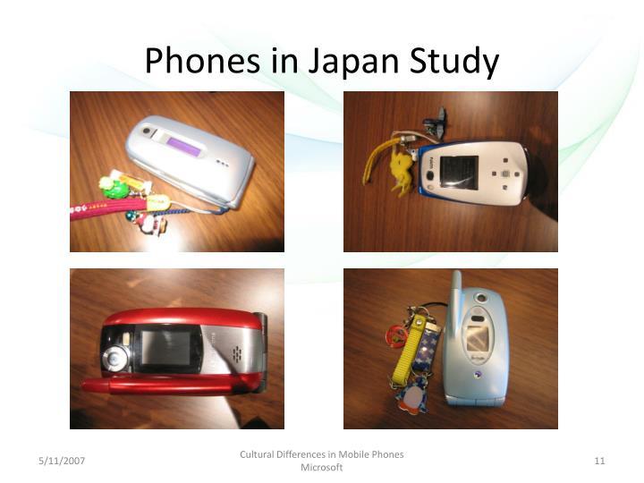Phones in Japan Study